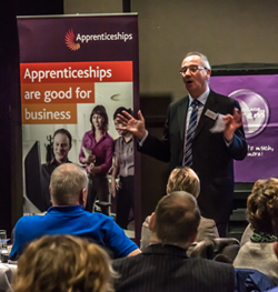 A shot from the employer engagement event